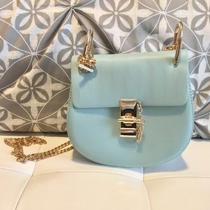 *NWOT*SheIn Light Blue Gold Chained Crossbody Bag